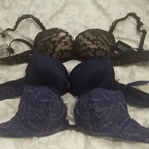 Three 34a aerie emma bras